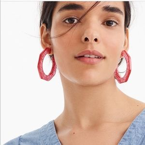 J. Crew Resin Angled Hoop Earrings
